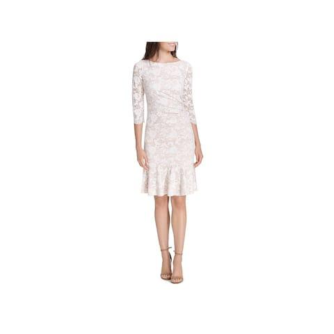 Eliza J Womens Sheath Dress Lace Floral Print