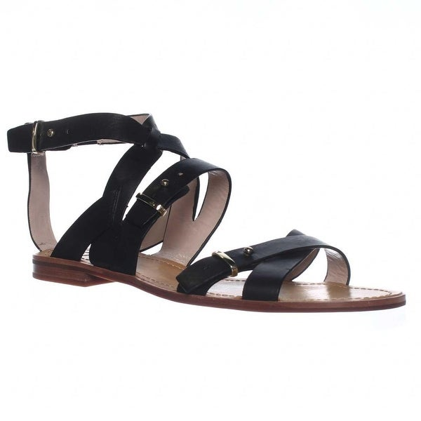French Connection Harmoney Ankle-Strap Gladiator Sandals, Black