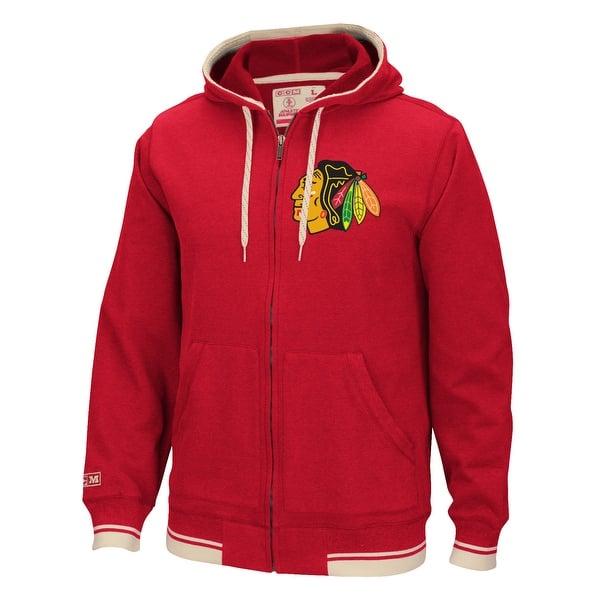 cdaa1a39a Shop Chicago Blackhawks CCM Fashion Fleece Sweatshirt - Free ...