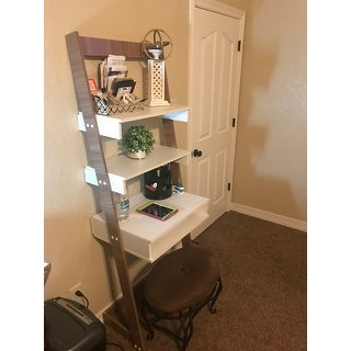 Merveilleux Porch U0026amp; Den Holly Lynn Ladder Desk With 2 Floating Shelves And 1  Tabletop ...