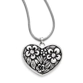 Chisel Stainless Steel CZ Antiqued Heart with 2in ext. Necklace (2 mm) - 29.5 in|https://ak1.ostkcdn.com/images/products/is/images/direct/d34a14c75d30f2e74d92c4cff8663e3f3a12e893/Chisel-Stainless-Steel-CZ-Antiqued-Heart-with-2in-ext.-Necklace-%282-mm%29---29.5-in.jpg?impolicy=medium