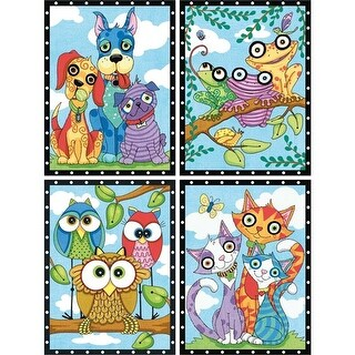 Paintworks Dimensions 9 x 12 in. Paint By Number, Animal Trios