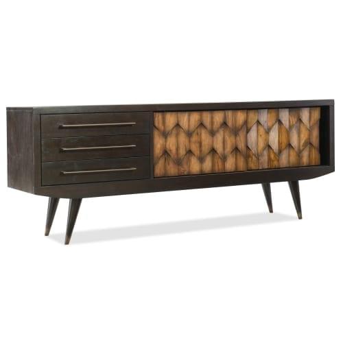 Hooker Furniture 5639 55474 DKW Savory 74 Inch Wide Media Cabinet With  Sliding D