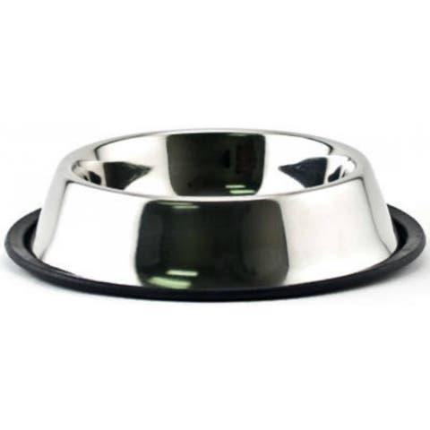 Ruffin' It 19016 Pet Feeding Bowl, 16 Oz, Stainless Steel