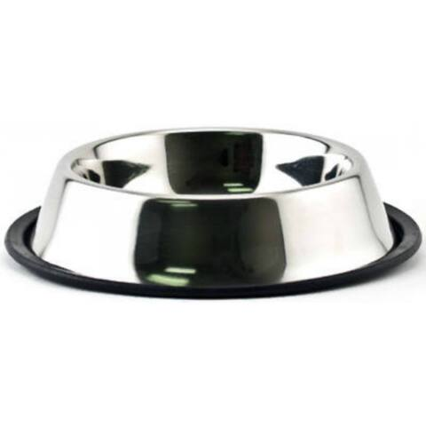 Ruffin' It 19124 Non-Skid Pet Bowl, 24 Oz, Stainless Steel