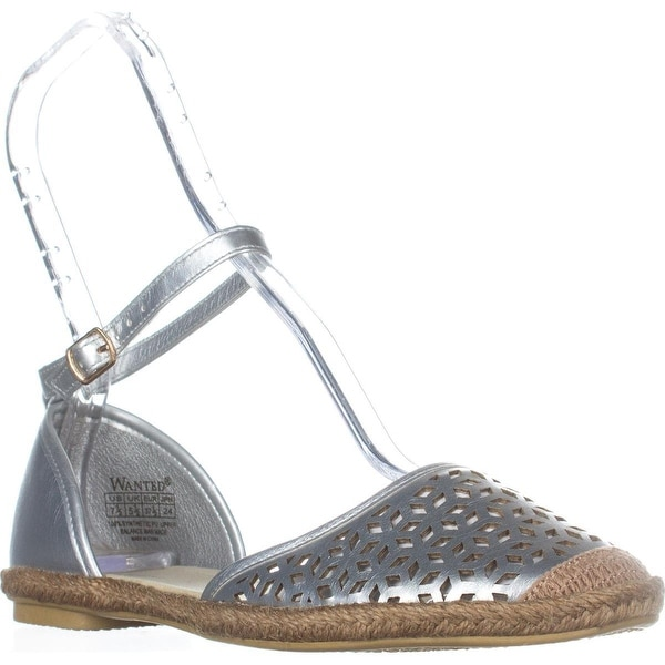Wanted Lido Ankle Strap Sandals, Silver