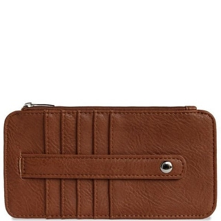 "Link to 6.5"" Camel Brown Rectangular Vegan Leather Credit Card Sleeve Wallet Similar Items in Gloves"