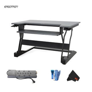 Ergotron WorkFit-T Sit-Stand Desktop Workstation - Bundle
