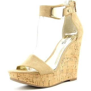 Carlos by Carlos Santana Benita Women  Open Toe Synthetic Nude Wedge Sandal