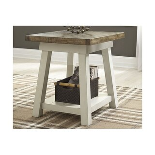 Stownbranner Rectangular End Table Two-tone Stownbranner Rectangular End Table