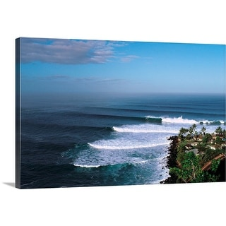 """""""Waves in the sea"""" Canvas Wall Art"""
