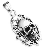 Memento Mori Skull Stainless Steel Pendant (27 mm Width)
