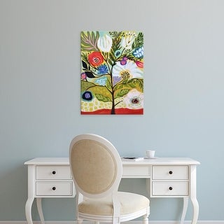 Easy Art Prints Karen Fields's 'Flower Tree I' Premium Canvas Art
