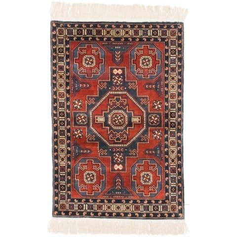 ECARPETGALLERY Hand-knotted 400L Silk Copper Silk Rug - 3'1 x 4'8