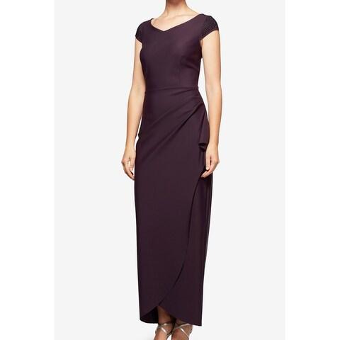 Alex Evenings Purple Womens Size 12 Embellished Sheath Dress