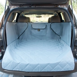 FrontPet Extended Width Quilted Dog Cargo Cover for SUV Universal Fit for Any Animal. Durable Liner Covers and Protects Your Veh
