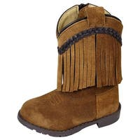 Smoky Mountain Western Boots Girls Hopalong Leather Fringe Brown