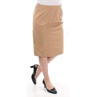 RALPH LAUREN $100 Womens 1212 Beige Zippered Pencil Casual Skirt 10 B+B
