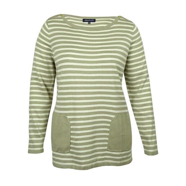Jones New York Women's Striped Tunic Sweater - Free Shipping On ...