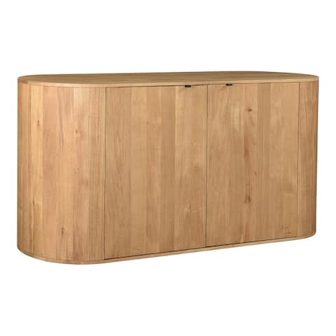 Aurelle Home Tezzi Modern 2-door Solid Oak Rounded Sideboard