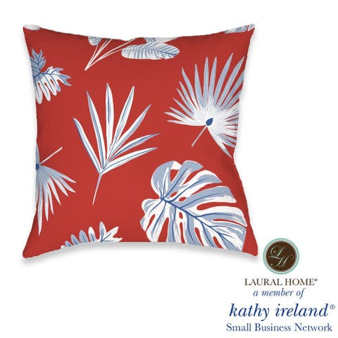 Laural Home kathy ireland® Small Business Network Member Palm Fan Decorative Pillow