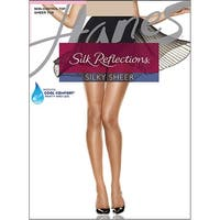 dd5744057d0 Hanes Silk Reflections Sheer Toe Pantyhose - Size - EF - Color - Travel Buff  -. Sale