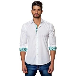 Men_S Dress Shirt In White