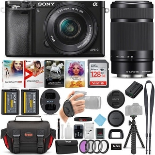 Link to Sony a6000 Mirrorless Camera (Black) w/ 16-50mm & 55-210mm Lens Bundle Similar Items in Digital Cameras