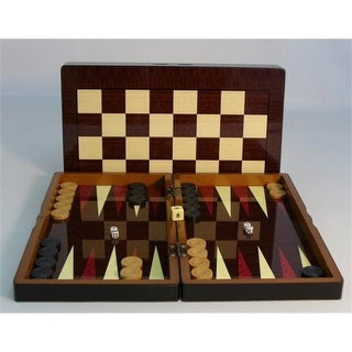 15 in. Simple wood Grain with Chess Board - Decoupage Wood