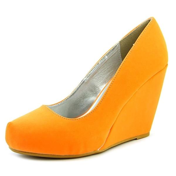 Fahrenheit Kreay-01 Women Open Toe Suede Wedge Heel