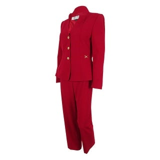 Tahari Women's Pete Three-Button Pant Suit