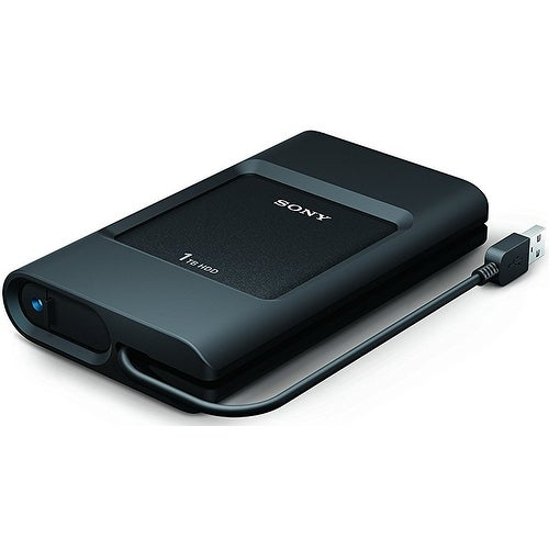 Sony Tethered USB 3.0 Cable / USB-C Port Portable External Hard Disk Drive (1TB)