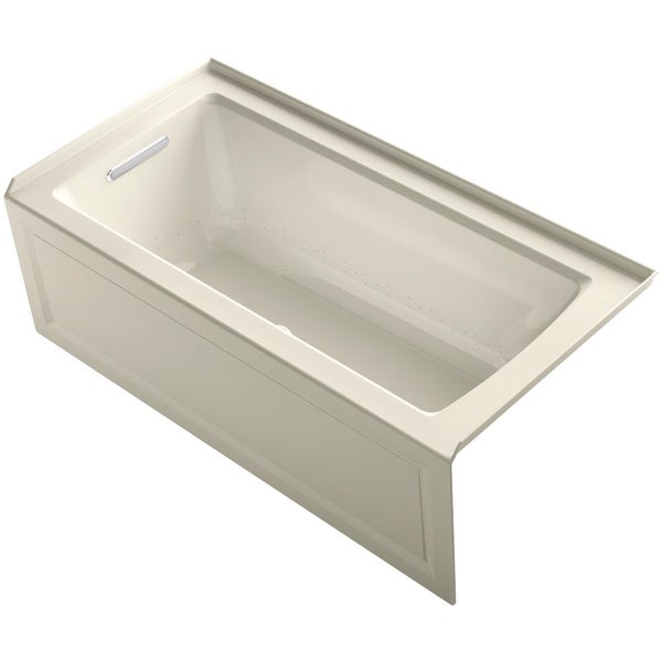 Kohler K 1947 Gla Archer 60 Three Wall Alcove Bubblemage Air Bath Tub