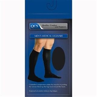 1652-BLA-M-L Mens Mild Support Compression Socks, Black - Mediu