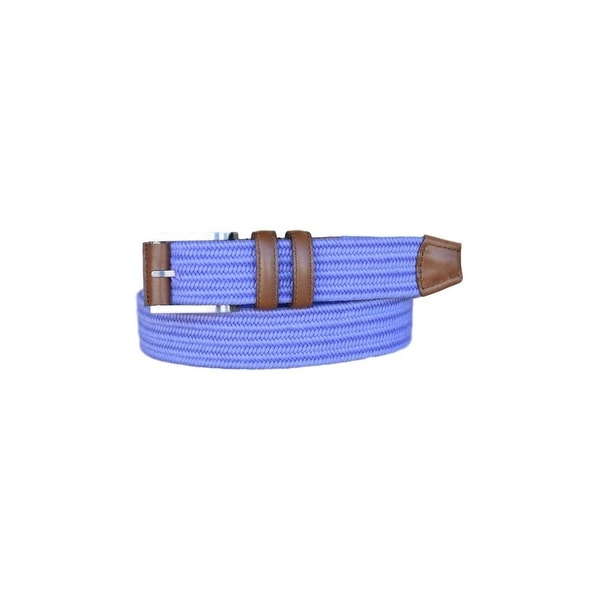 Lejon Belt Mens Charter Cotton Leather Straps Purple