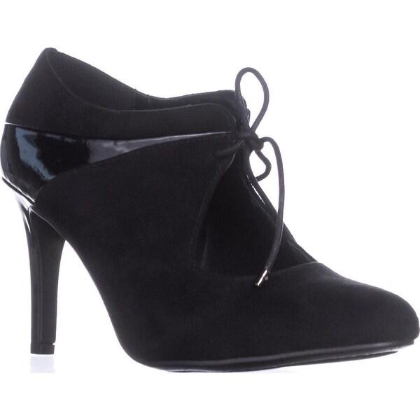 Impo Taline Almond-Toe Lace-Up Dress Pumps, Black