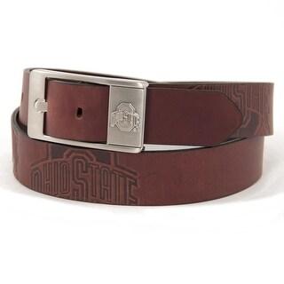 Ohio State University Brandish Leather Belt