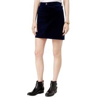 Tommy Hilfiger Womens Mini Skirt Corduroy Ribbed