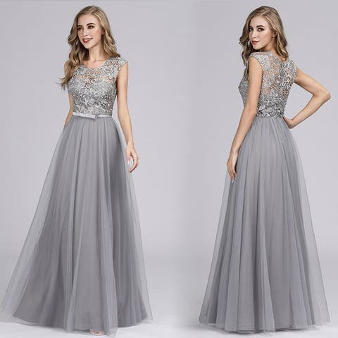 Ever-Pretty Women's Floral Lace Sleeveless Prom Bridesmaid Dresses for Women 07609