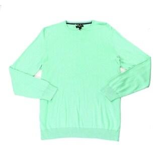 Club Room NEW Mint Green Mens Size Large L Crewneck Silk Knit Sweater