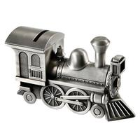 Train Anti-Tarnish Brushed Nickel Piggy Banks - Silver