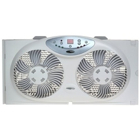 Bionaire BW2300 Twin Reversible Airflow Window Fan w/ Remote - White