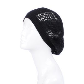 Womens Cut Out Beanie Hat