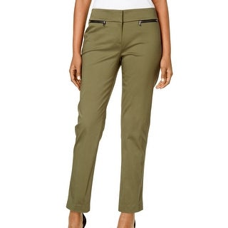 Nine West NEW Olive Green Women's Size 4 Straight-Leg Dress Pants