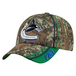Legendary Whitetails Vancouver Canucks Mossy Oak Camo NHL Slash Cap - vancouver canucks