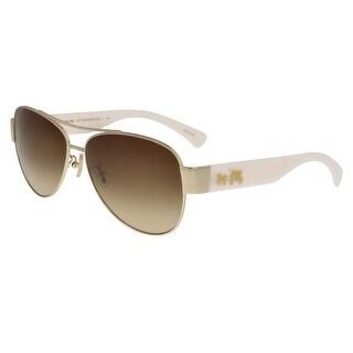 Coach HC7049 920813 Olivia Light Brown Aviator Sunglasses