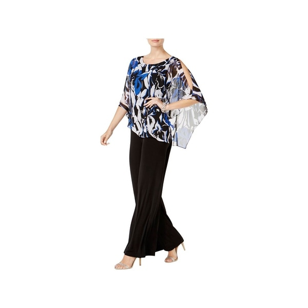 222376c9164af Connected Apparel Womens Jumpsuit Poncho-Overlay Printed