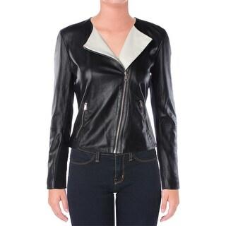 Lauren Ralph Lauren Womens Jacket Lamb Leather Solid