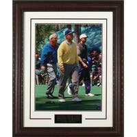 Tiger Woods unsigned 96 Masters 11X14 Photo walking Leather Framed w Arnold Palmer  Jack Nicklaus