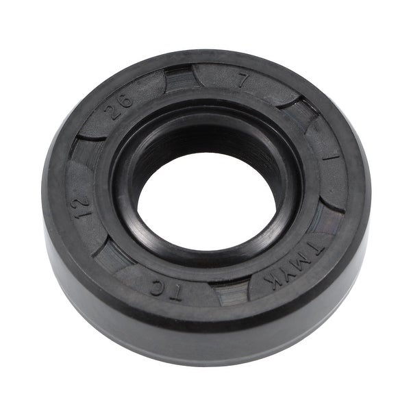 Oil Seal, TC 12mm x 26mm x 7mm, Nitrile Rubber Cover Double Lip - 12mmx26mmx7mm